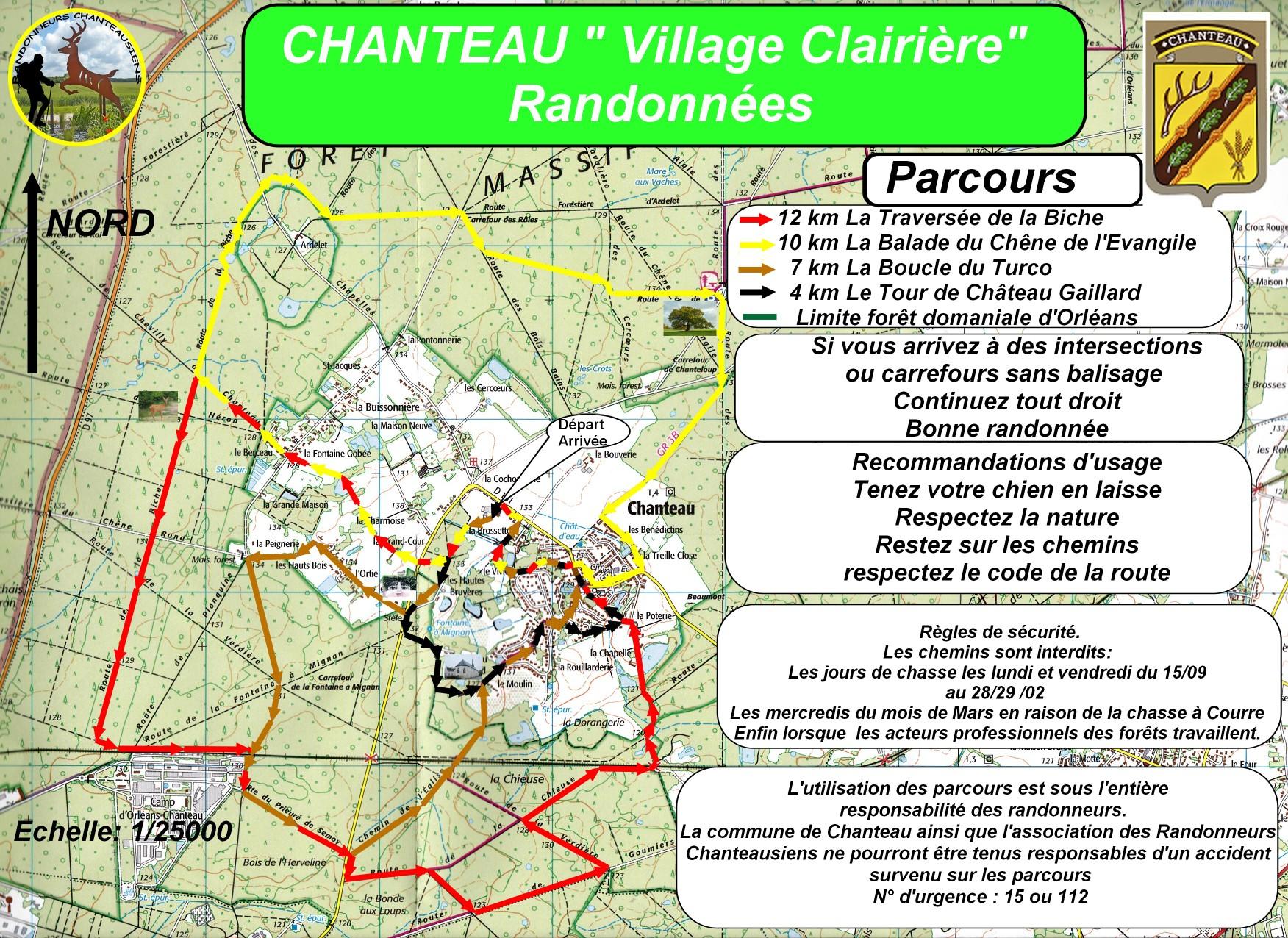 Plans randonnées à Chanteau