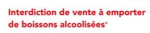 Arrêté interdisant la vente à emporter de boissons alcoolisées au verre et la consommation d'alcool sur la voie publique