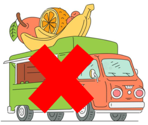 Camion ambulant, non cautionné par la Mairie