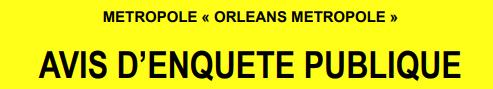 Orléans Métropole – Avis d'Enquête Publique
